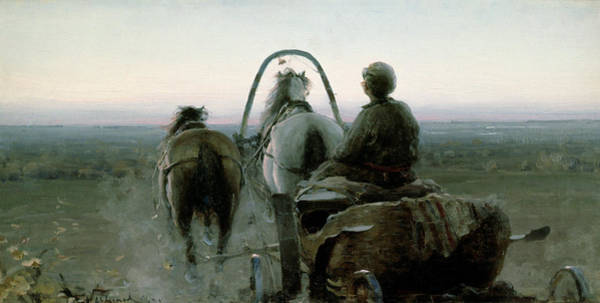 Carriage Painting - The Return Journey by Abram Efimovich Arkhipov