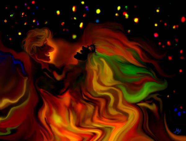 Grotesque Digital Art - The Revellers by Mathilde Vhargon