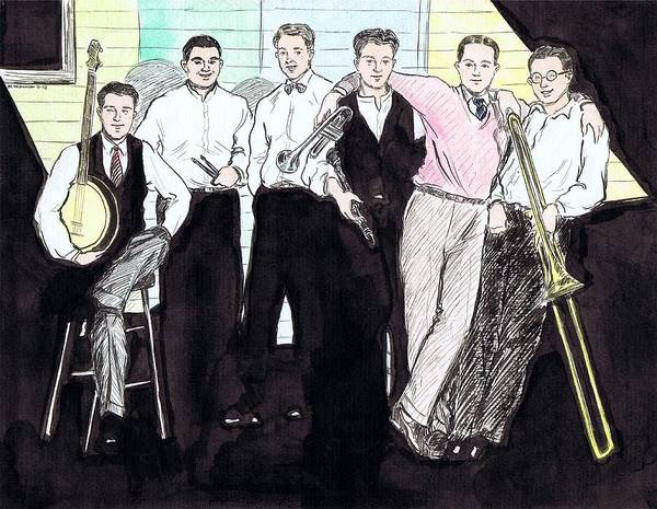 Nostalgia Drawing - The Rhythm Jugglers by Mel Thompson
