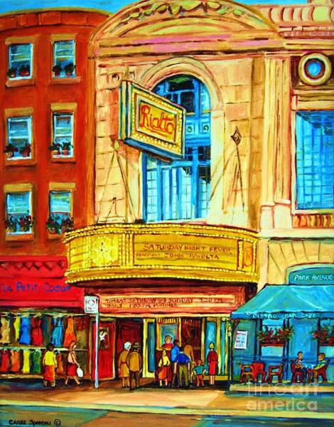 Painting - The Rialto Theatre by Carole Spandau