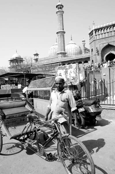 Wall Art - Photograph - The Rickshaw Puller From Old Delhi by Abhilash G Nath