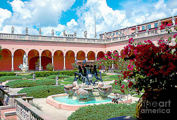 Photograph - The Ringling Gardens Hdr by Susanne Van Hulst