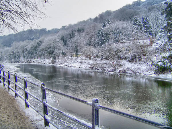 Photograph - The River Severn In Ironbridge Frozen During Winter II by Sarah Broadmeadow-Thomas