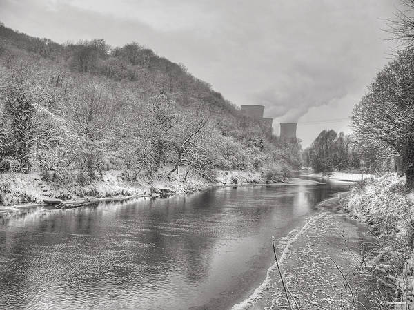 Photograph - The River Severn In Ironbridge Frozen During Winter by Sarah Broadmeadow-Thomas