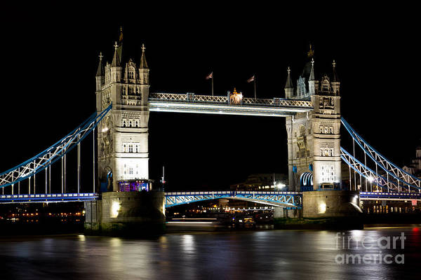 Wall Art - Photograph - The River Thames And Tower Bridge At Night by David Pyatt