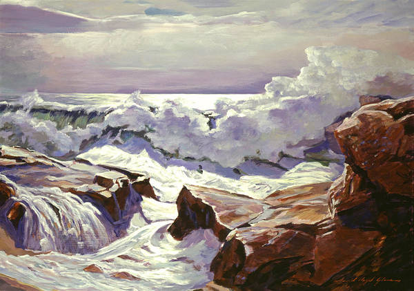 Painting - The Roar Of The Surf by David Lloyd Glover