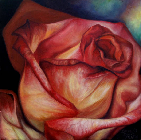 Wall Art - Painting - The Rose by Lorraine Davis Martin