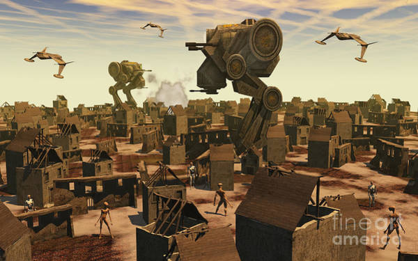 Assault Weapons Digital Art - The Ruins Of An Earth Type Environment by Mark Stevenson