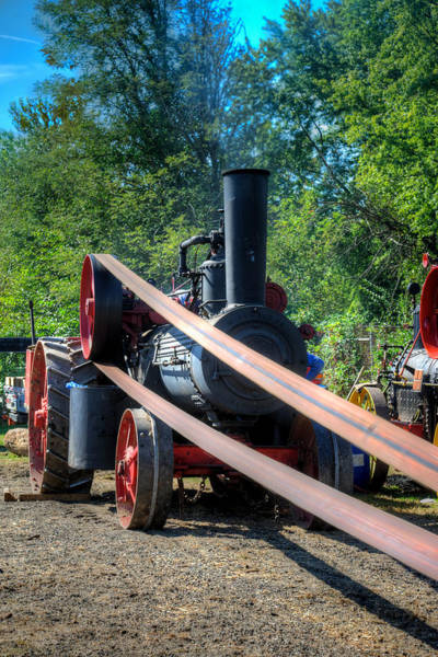 Photograph - The Rumley Powering The Saw by Mark Dodd