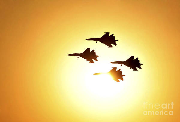 Bahrain Photograph - The Russian Knights Display Team by Stocktrek Images
