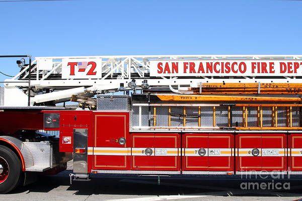 Photograph - The San Francisco Fire Department Fire Engine . 7d14210 by Wingsdomain Art and Photography