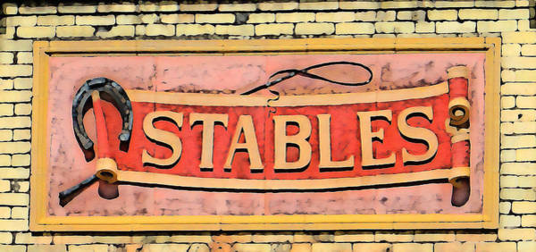 Horse Shoe Digital Art - The Schlitz Stables by Geoff Strehlow