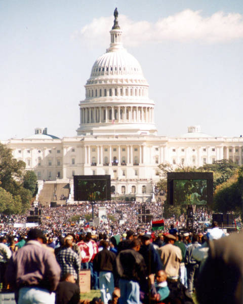 Photograph - The Sea Of The Million Man March by Emery Graham