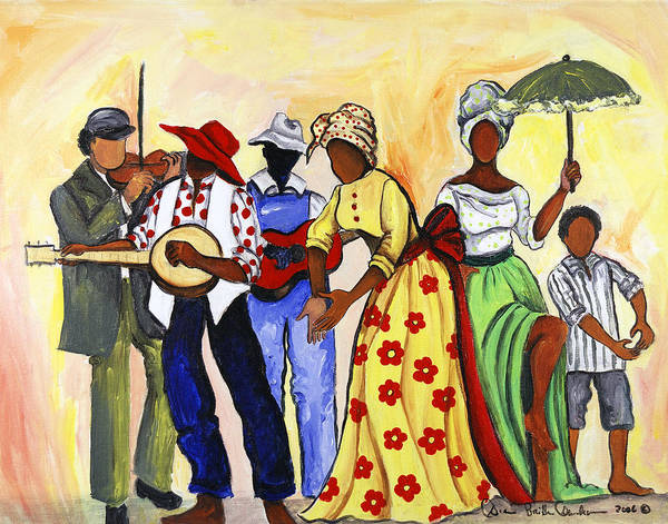 Wall Art - Painting - The Second Line by Diane Britton Dunham