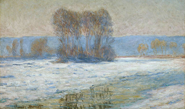 Snow Bank Painting - The Seine At Bennecourt by Claude Monet