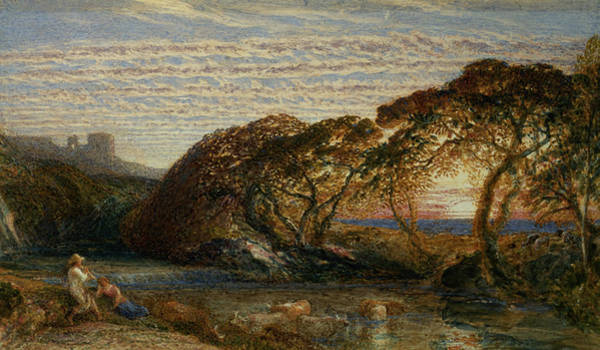 1805 Painting - The Shadowy Stream by Samuel Palmer