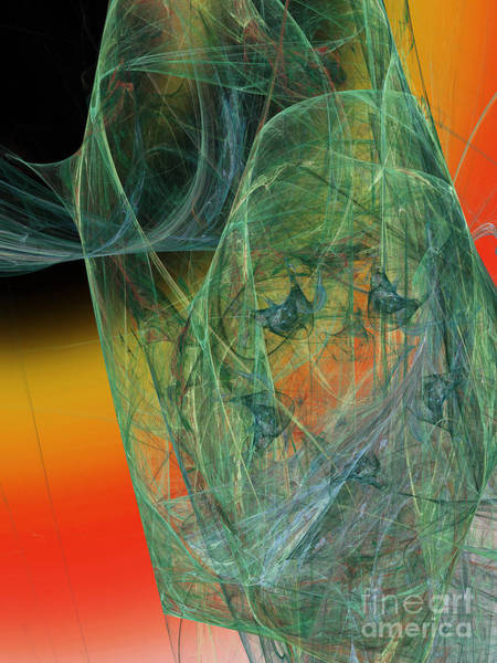 Pleasing Digital Art - The Shawl by Andee Design