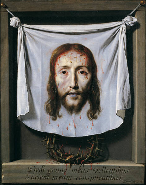 Wall Art - Painting - The Shroud Of St Veronica by Philippe de Champaigne