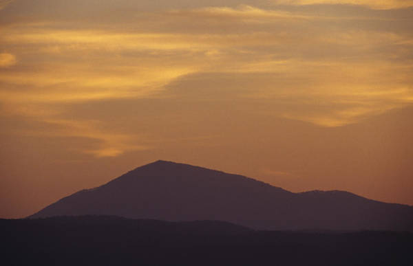 Boyd Photograph - The Silhouette Of A Peaked Mountain by Jason Edwards