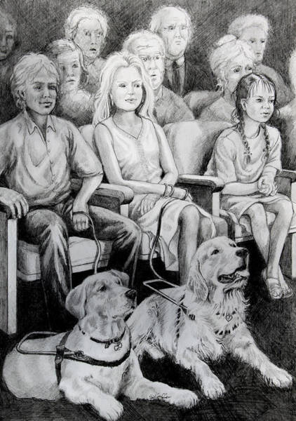 Service Dog Painting - The Silver Screen by Hanne Lore Koehler