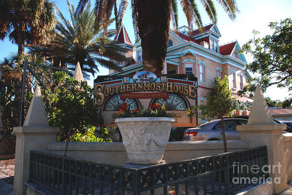 Wall Art - Photograph - The Southernmost House Is A Hotel In Key West by Susanne Van Hulst