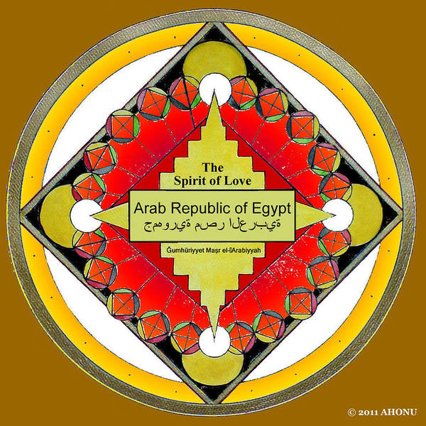 Painting - The Spirit Of Love Of The Arab Republic Of Egypt by Ahonu
