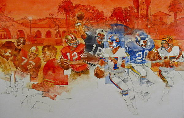 Painting - The Stanford Legacy  1 Of 3 by Cliff Spohn