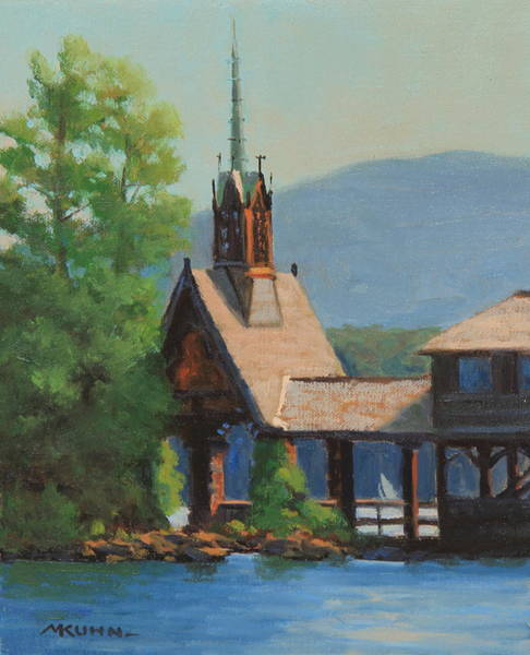 Bolton Landing Wall Art - Painting - The Steeple  by Marianne Kuhn