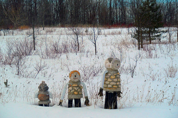 Photograph - The Stone Family by Cyryn Fyrcyd