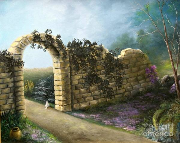 Wall Art - Painting - The Stone Wall by Patricia Lang
