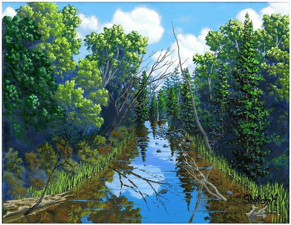 Wall Art - Painting - The Sucker River by Dan Shefchik