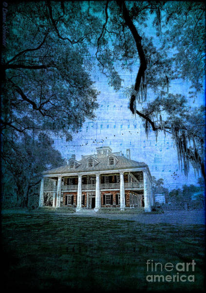Historic House Digital Art - The Sugar Palace - River Road Blues by Lianne Schneider