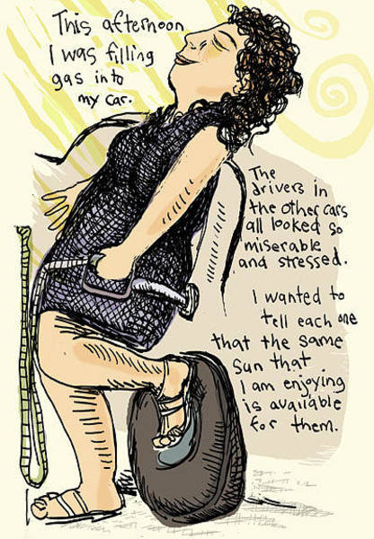 Miserable Drawing - The Sun Is Available by Erella Ganon