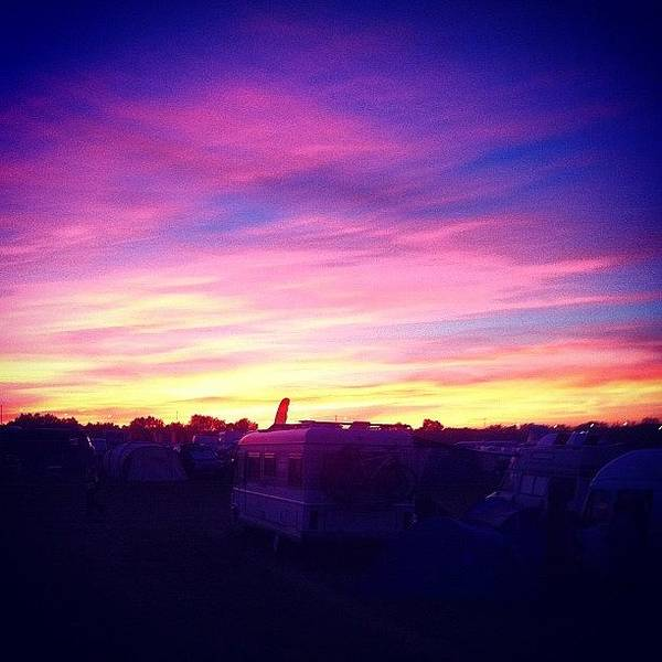 Vw Kombi Photograph - The Sun Setting At #bestival by Jimmy Lindsay