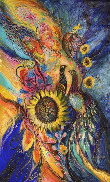 Mizrach Painting - The Sunflower ... Visit Www.elenakotliarker.com To Purchase The Original by Elena Kotliarker