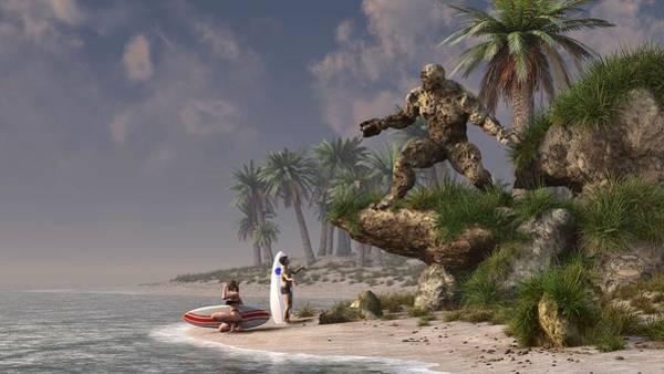 Digital Art - The Surf God   by Daniel Eskridge
