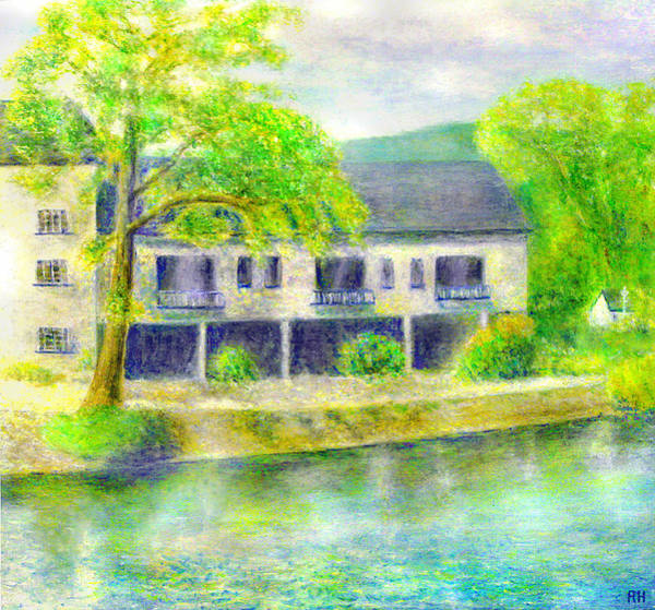 Windermere Painting - The Swan Inn - Lake Windermere by Ronald Haber