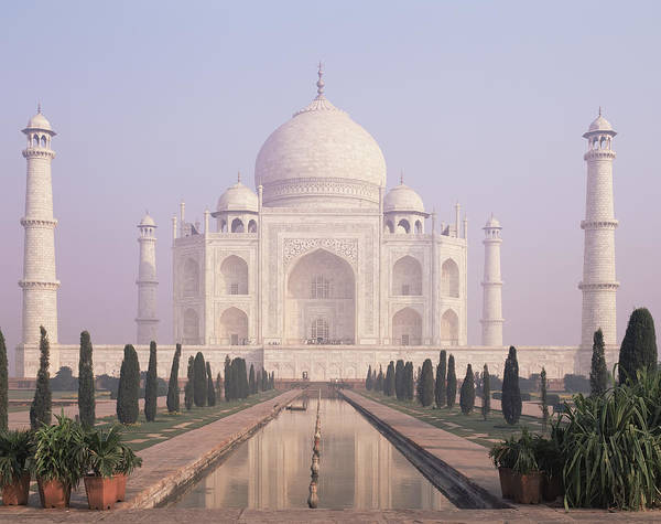 Wall Art - Photograph - The Taj Mahal A White Marble Mausoleum by Dave and Les Jacobs