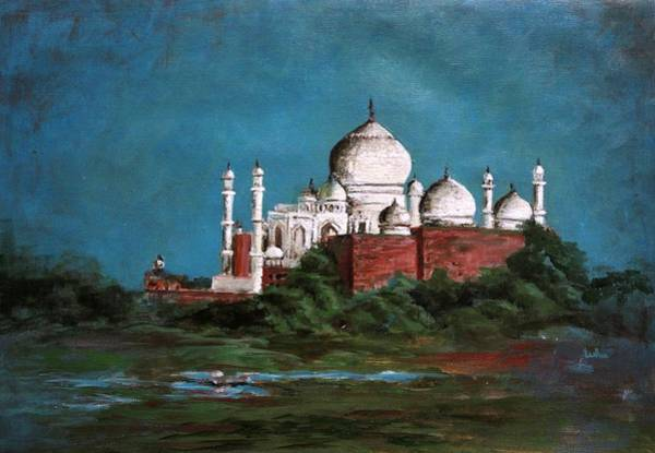 Usha Painting - The Taj Mahal by Usha Shantharam