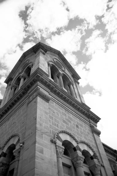Loretto Chapel Photograph - The Taller The Steeple Bw by Cheri Hennig