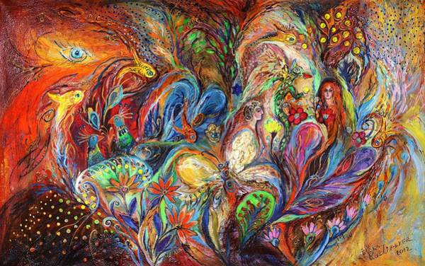 Priestly Blessing Painting - The Temptation Of Eve by Elena Kotliarker