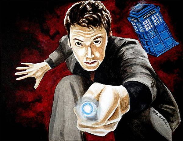 Bbc Painting - The Tenth Doctor by Al  Molina