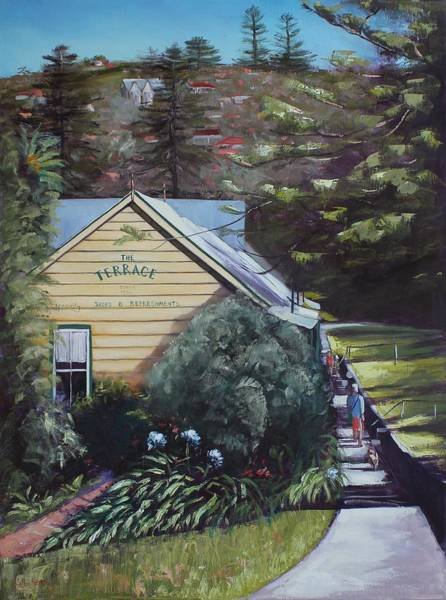 Painting - The Terrace by Kathy  Karas