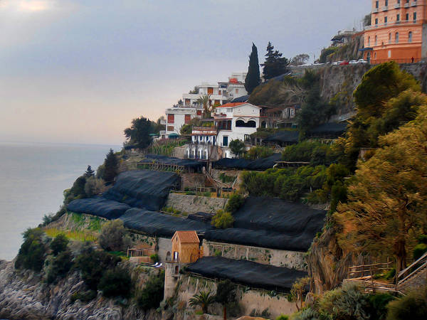 Photograph - The Terraces Of Amalfi by Bill Cannon