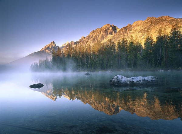 Photograph - The Teton Range At String Lake Grand by Tim Fitzharris
