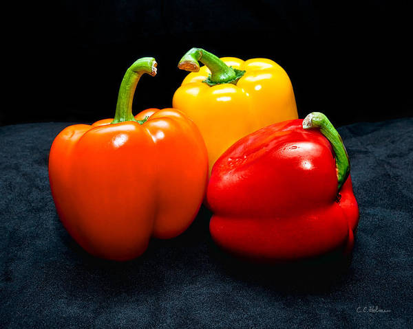 Photograph - The Three Peppers by Christopher Holmes