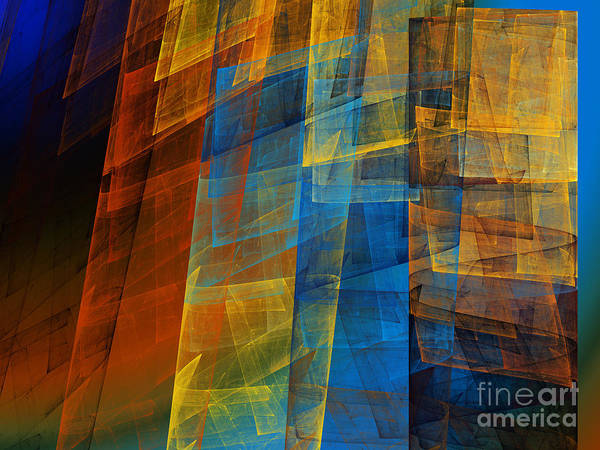 Pleasing Digital Art - The Towers 2 by Andee Design
