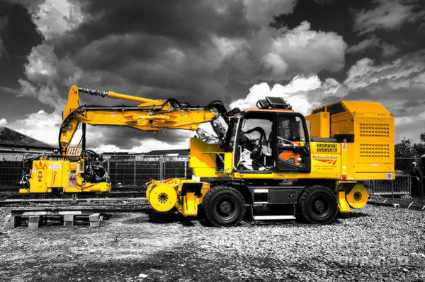 Excavator Photograph - The Track Welder by Rob Hawkins