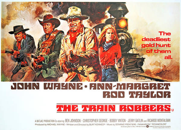 Rod Taylor Photograph - The Train Robbers, Rod Taylor, Ben by Everett