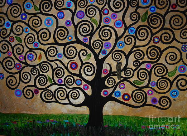 Samantha Painting - The Tree Of Life by Samantha Black